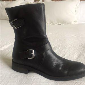 Enzo Angiolini leather biker boots, 8.5M